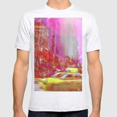 Moving to New York  Mens Fitted Tee Ash Grey SMALL