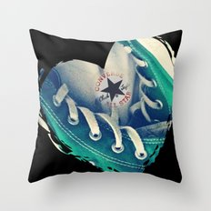 Converse Love in Black Throw Pillow