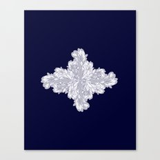 Navy And White Fluid Pat… Canvas Print