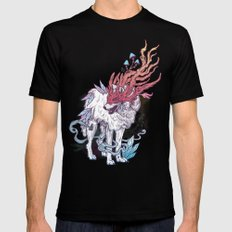 Spirit Animal - Wolf SMALL Black Mens Fitted Tee