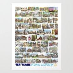 Ten Years in Davis Art Print