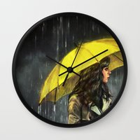 All Upon The Downtown Tr… Wall Clock