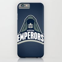 iPhone & iPod Case featuring DarkSide Emperors -Blue by WanderingBert / David Creighton-Pester