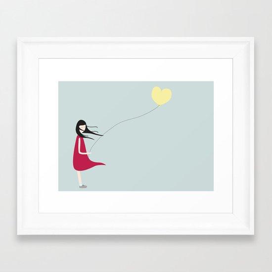 Floating Heart Framed Art Print