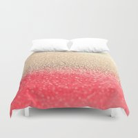 GOLD CORAL Duvet Cover
