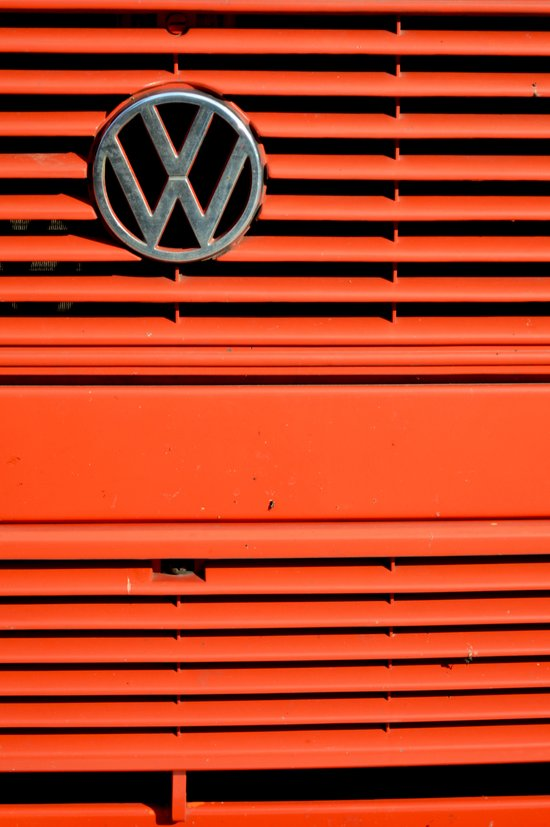 Red Volkswagen Canvas Print