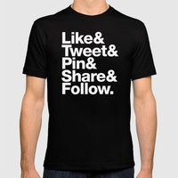 The Social Type Mens Fitted Tee Black SMALL