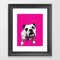 Pink Bowser Framed Art Print