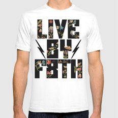 LIVE BY F8TH FLORAL Mens Fitted Tee White SMALL