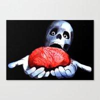 Brains! Live Brains! Canvas Print
