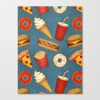 Fast Food Canvas Print