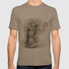 Tea bath Mens Fitted Tee Tri-Coffee SMALL