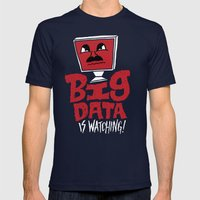 Big Data Is Watching Mens Fitted Tee Navy SMALL