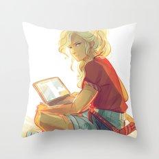 Wise Girl Throw Pillow