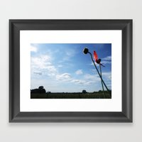 A Dash of Red Framed Art Print