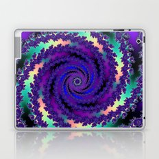 Purple Hurricane Fractal Laptop & iPad Skin