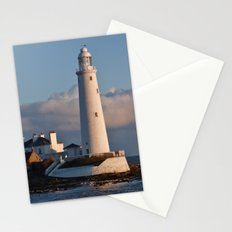 Morning Sun, St Mary's Lighthouse Stationery Cards