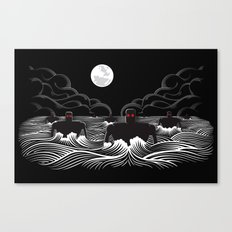 They Came At Night Canvas Print