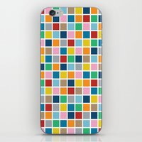 Colour Block Outline iPhone & iPod Skin
