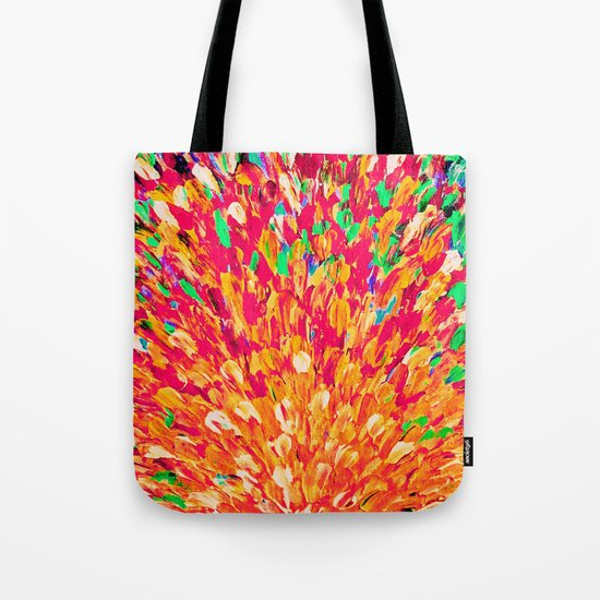 NEON SPLASH - WOW Intense Dash of Cheerful Color, Bold Water Waves Nature Lovers Modern Abstract  Tote Bag