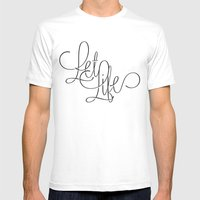 Let Life Mens Fitted Tee White SMALL