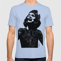 B&W Fashion Illustration - Part 1 Mens Fitted Tee Tri-Blue SMALL