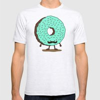 The Mustache Donut Mens Fitted Tee Ash Grey SMALL
