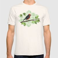 Bird in Tree Mens Fitted Tee Natural SMALL