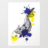 out fish Art Print