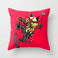 RobotiCAT Throw Pillow