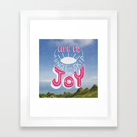 Life Is A Single Skip Fo… Framed Art Print