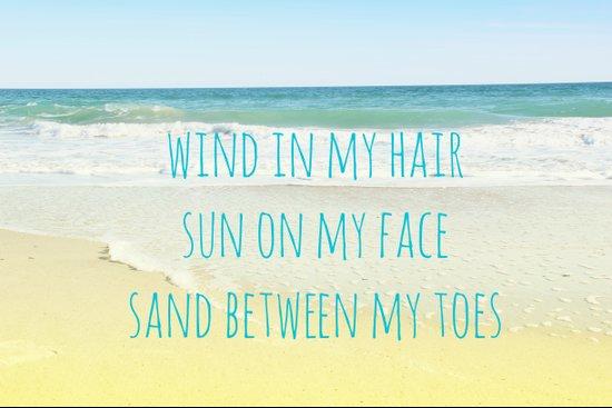 Wind In My Hair Art Print