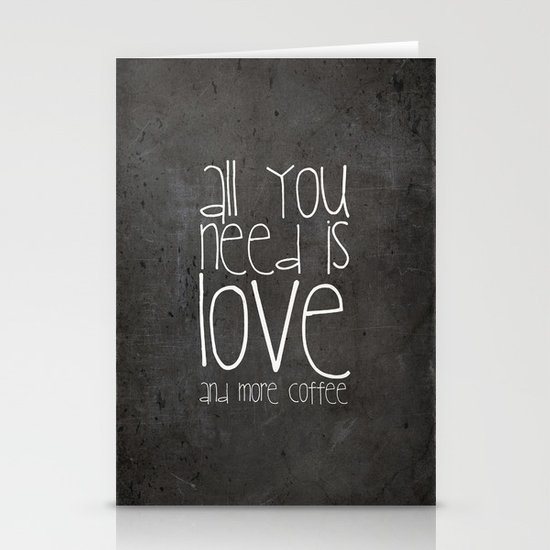 COFFEe Stationery Card