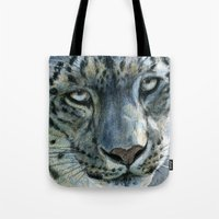Snow-Leopard Glance 810 Tote Bag