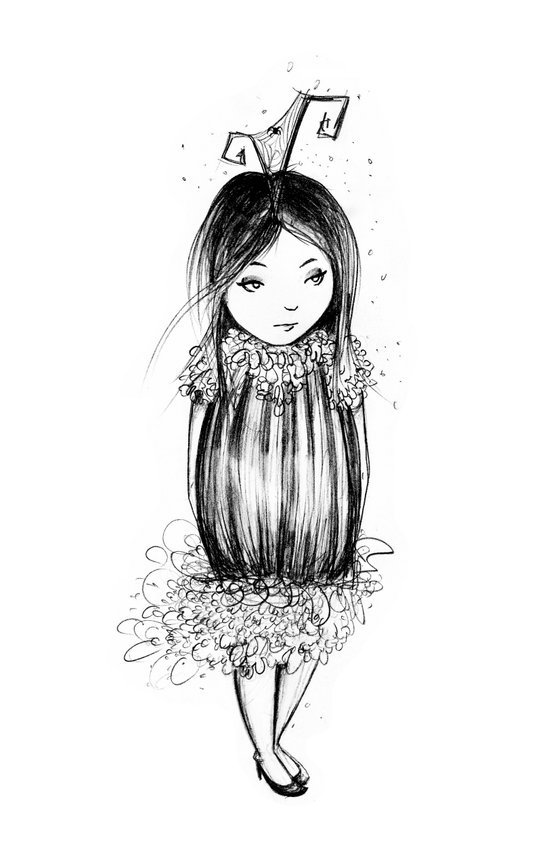 Bug Girl Art Print