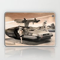2 Stormtrooopers in a Hover DeLorean  Laptop & iPad Skin