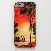 African sunset iPhone 6 Slim Case