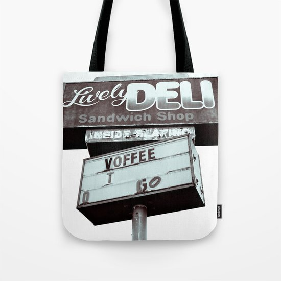 Old deli sign Tote Bag