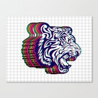 3D Tiger Canvas Print