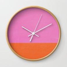 Neon wall II Wall Clock