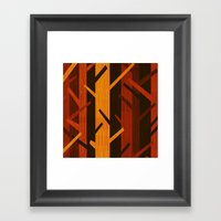 Retro Fall Woods By Friz… Framed Art Print