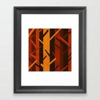 Retro Fall Woods By Friz… Framed Art Print