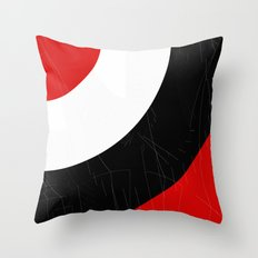 black and white meets red Version 14 Throw Pillow