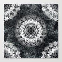 MONOCHROME BOHOCHIC MAND… Canvas Print