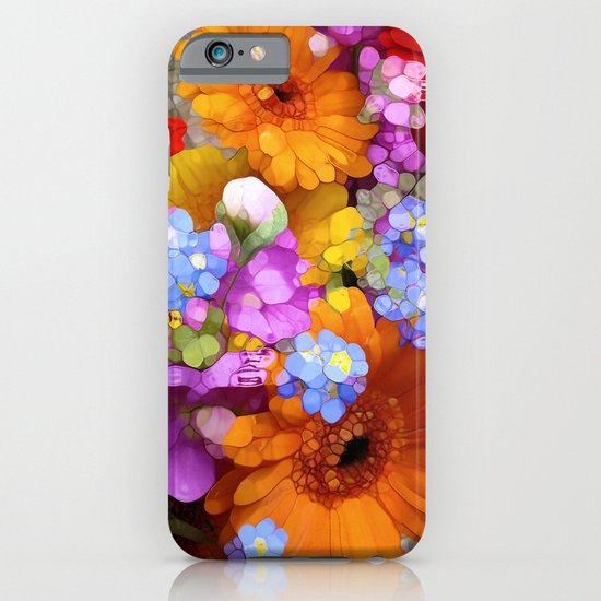 Rainbow Flower Abstract iPhone & iPod Case