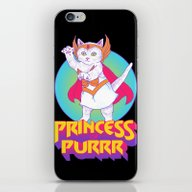 Princess Of Purrr iPhone & iPod Skin