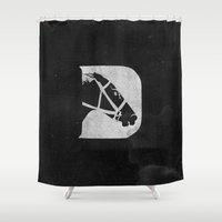 D is for Derby Shower Curtain