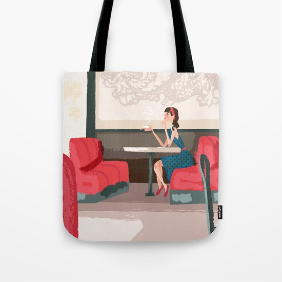 Sipping Green Tea at the Sushi House Tote Bag
