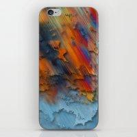 Diagonal Rainbow Redux iPhone & iPod Skin