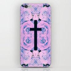 Pastel Rose Cross iPhone & iPod Skin